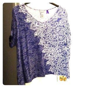 Plus PETITE tshirt blouse tunic EUC